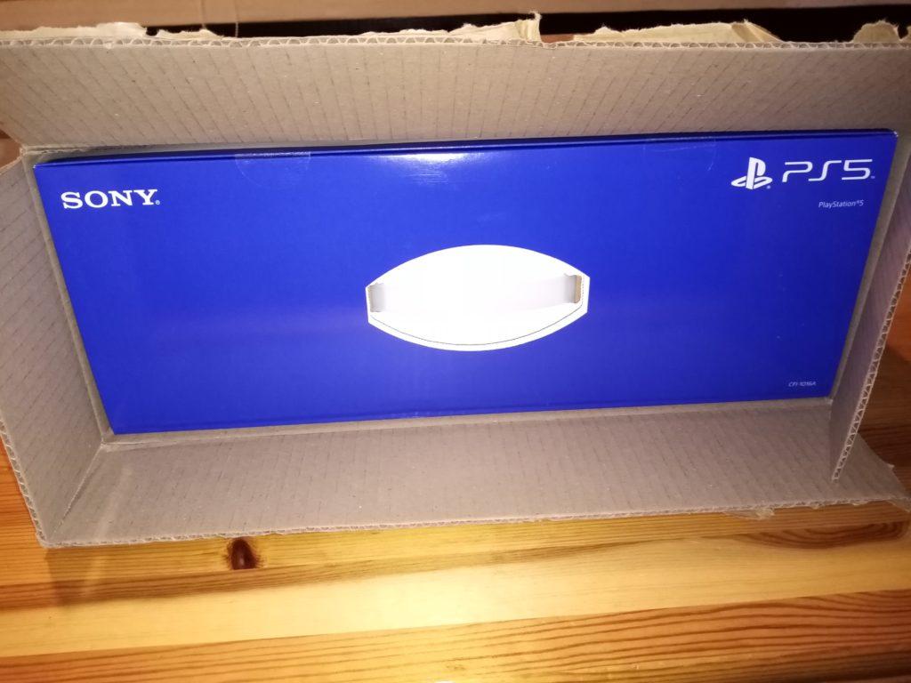Carton Cdiscount PS5 ouvert